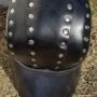 black back  leather helm