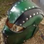 green threeqtr top front rt  leather helm